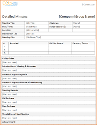 Meeting Minutes Template 24 template for meeting minutes Job Resumes Word 1