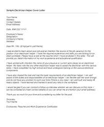Electrician Cover Letter Samples Entry Level Apprentice Electrician