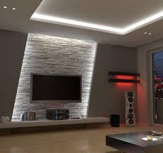 tv room lighting ideas. Indirect Led Wall Lighting In The Living Room Behind Television Tv Ideas