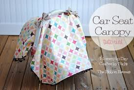 car seat canopy tutorial the ribbon