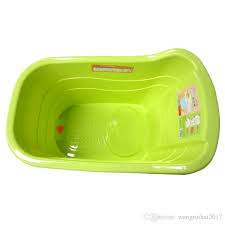 new plastic kids tub children s tub bath basin for 0 3 years old baby green and blue colors can be selected by ruihai2017 dhgate com