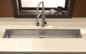 undermount bar sink. Houzer Zero Radius Undermount Trough Bar Prep Sink 4285 /