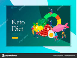 Paleo Chart Keto Diet Landing Page Template Cartoon People Characters