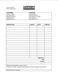 Invoice Template For Services Provided