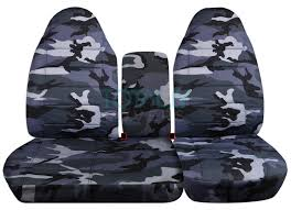 ford f 150 60 40 high back gray camo seat covers