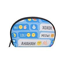 amazon cute makeup bag travel cosmetic bags emoticon makeup case storage bags clical zipper pouch beauty