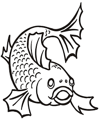 Small Picture Goldfish Coloring Page The Front View of a Goldfish