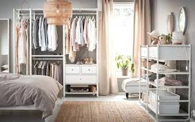 Bedroom Wardrobe Ideas A Medium Sized Bedroom Furnished With Open