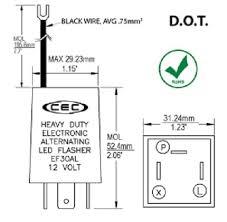 cec flasher wiring diagram cec flasher wiring diagram amazon com cec industries ef30al electronic wig wag alternating cec flasher wiring diagram