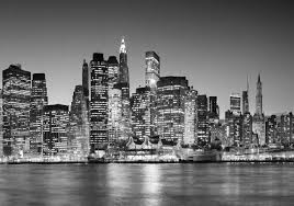 cityscape new york black white