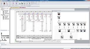 "schematic diagram software trace software your calculation data obtained through elec calcâ""¢ and automatically generate the multi line scheme and installation wiring diagram in elecworksâ""¢"