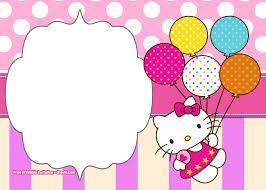 Printable Hello Kitty Invitations Personalized Free Printable Hello Kitty Pink Polka Dot Invitation
