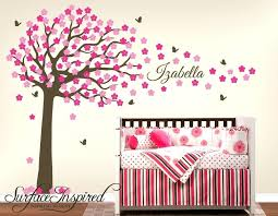 tree decals for nursery walls modern bedroom area with brown tree pink fl wall decal