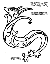 Small Picture Pokemon Serperior Coloring Pages Wills coloring pages