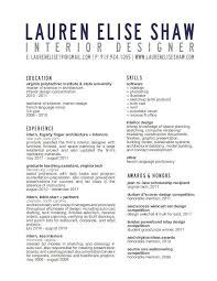 Interior Design Resume New Download Interior Designer Resume Resume Example Business Ideas