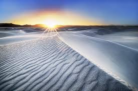 Пустыня Белых Песков в Нью Мексико фото