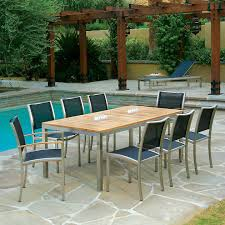 Stainless Steel Outdoor Dining Table Kingsley Bate Tiburon Dining Table 76 Inch Rectangle With