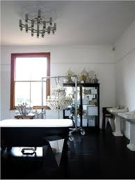 black floor paintWalls in Farrow  Ball All White with floor in Pitch Black Floor