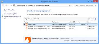 office uninstaller asap utilities for excel uninstall temporary remove