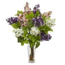Silk Arrangements For Home Decor Home Decoration Cool Purple And White Fake Floral Arrangements