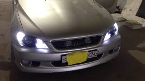 Toyota Altezza Lights Lexus Is Toyota Altezza Headlamp Tuning Led Xenon Youtube