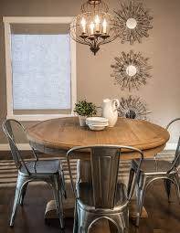 rustic dining room dining room rustic with tolix chairs round dining table