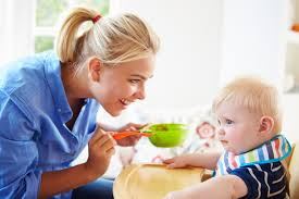 the skills a good nanny should possess baby room mother feeding baby boy in high chair