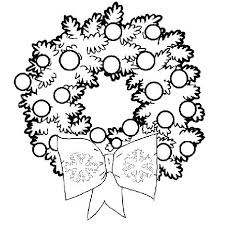 Christmas Wreath Coloring Ornaments Coloring Pages Coloring Sheets