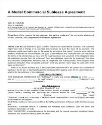Sample Standard Lease Agreement Form 9 Free Documents In Standard ...