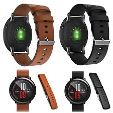 22mm leather watch strap replacement bracelet band for xiaomi huami amazfit cod