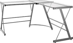 office depot desks glass. amazoncom altra odin glass lshaped computer desk gray kitchen u0026 dining office depot desks