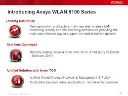 avaya wireless lan 8100 customer presentation ppt introducing avaya wlan 8100 series