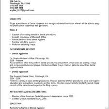 Dental Hygienist Sample Resume New Grad Student Samples Hygiene