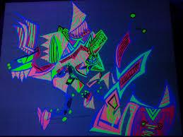 Cool Black Light Designs Tribute To Patrick Ashline Black Light Painting 3