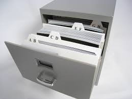File Cabinet Mini Business Card File Cabinet From Thinkgeek