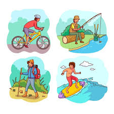 Free Vector | People being active outside