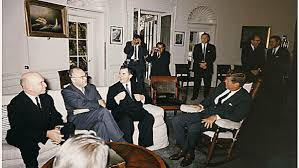 jfk oval office. President John F. Kennedy And Soviet Minister Of Foreign Affairs Andrei Gromyko Meet In The Oval Office On October 18, 1962. S...rt Knudson White House Jfk