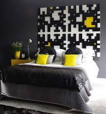 Black and Yellow Bedroom modern-bedroom