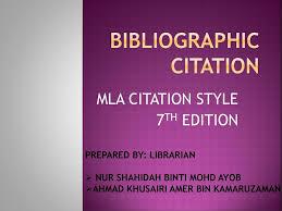 Bibliographic Citation Ppt Download