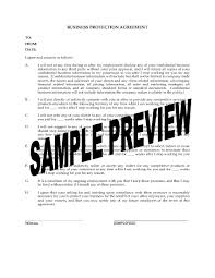 Business Protection Agreement For Departing Employee | Legal Forms ...