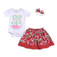 3 Month Size Chart Amazon Com Newborn Infant Baby Girls Summer Clothes Outfits