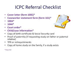 icpc form 100a interstate compact on the placement of children icpc ppt video