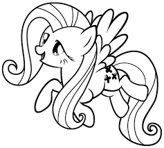 Cartoon My Little Pony Coloring Pages Free Printable For Kids
