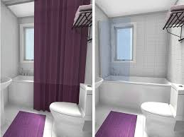 small bathroom shower. Bathroom Shower Curtain Vs Frameless Glass Tub Panel Before \u0026 After Small