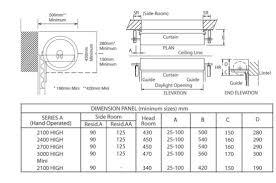 industrial garage door dimensions. Gliderol Steel Roller Door Series A And AA Dimensions Industrial Garage