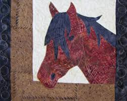 Roberta's Custom Quilting: Horse Applique Quilt &  Adamdwight.com