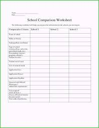 College Comparison Worksheet Template Cost Comparison Worksheet Template Good Models College Spreadsheet