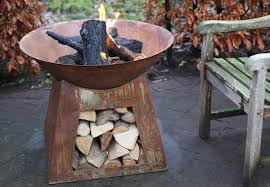 99 99 for a rustic outdoor fire pit with bowl top