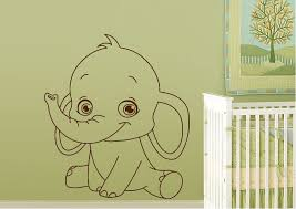 childrens baby elephant wall stickers