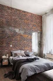 industrial look bedroom. Unique Industrial The Brick In This Bedroom Is A Wall Decal Helping Bring The Industrial Look  Into Your Space Throughout Industrial Look Bedroom I